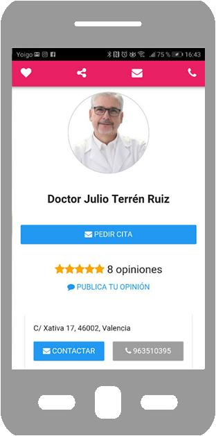 aplicación móvil Masquemedicos